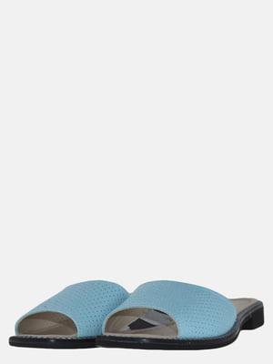 Шльопанці блакитного кольору | 5603923