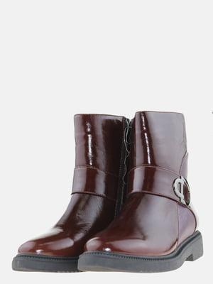 Ботинки бордовые | 5608946