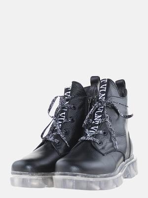 Ботинки черные в принт   5608952