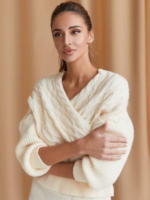 Пуловер бежевий | 5609019