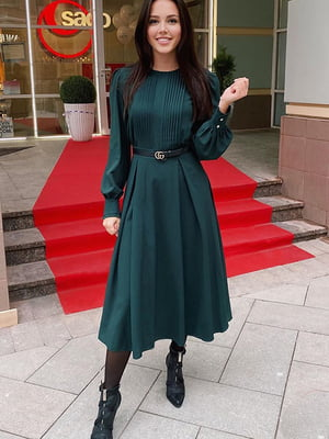 Платье темно-зеленое | 5609052
