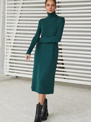 Платье темно-зеленое | 5609066