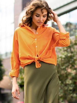 Рубашка морковного цвета | 5609071