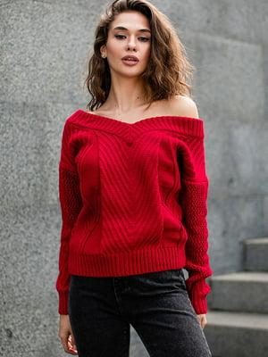 Пуловер червоного кольору | 5609077