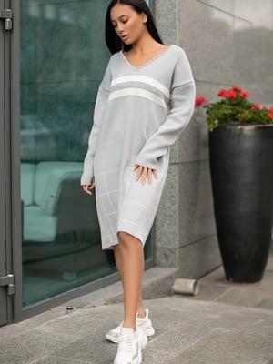 Сукня сіра в смужку і клітинку | 5609117