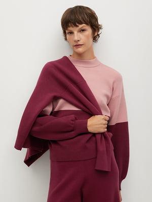 Джемпер розово-бордовый | 5609816