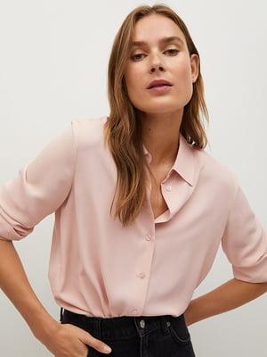 Рубашка пудрового цвета | 5609872