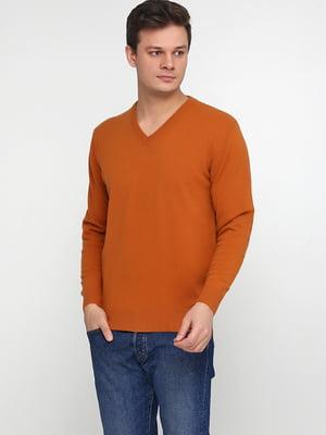 Пуловер терракотового цвета | 5610301