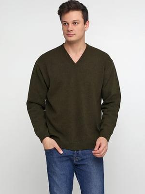 Пуловер цвета хаки | 5610305