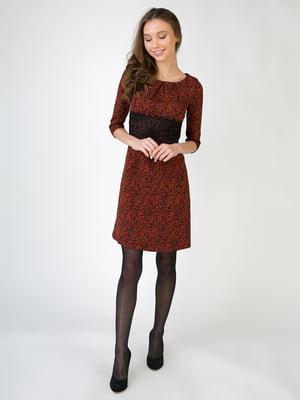 Сукня теракотового кольору в анімалістичний принт | 5605496