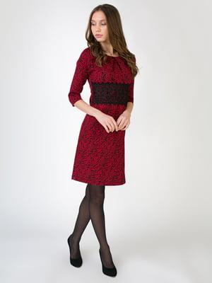 Сукня червоного кольору в анімалістичний принт | 5605493