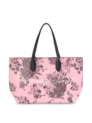 Сумка розового цвета в цветочный принт | 5610412