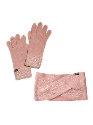 Комплект: повязка на голову и перчатки   5610611