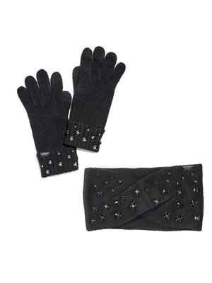 Комплект: повязка на голову и перчатки | 5610612
