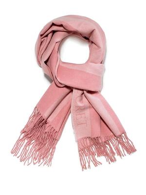 Шарф рожевого кольору в смужку | 5610629