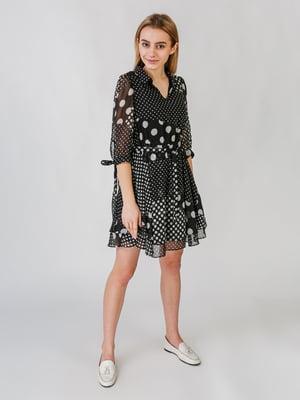 Платье черное в горошек | 5609606