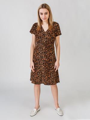 Сукня з анімалістичним принтом | 5609564