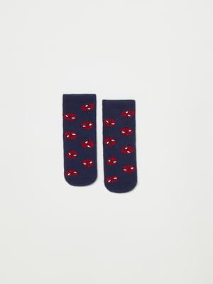 Шкарпетки сині в принт | 5561752