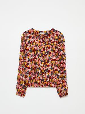 Блуза разноцветная в цветочный принт | 5605263