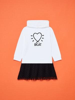 Платье бело-черное с принтом | 5605323