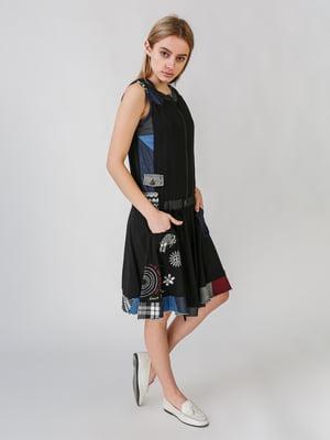 Сукня чорна з принтом   5609661