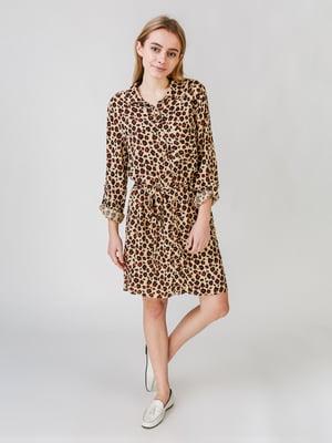 Сукня з анімалістичним принтом | 5609636