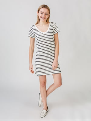 Сукня біла в смужку | 5609548