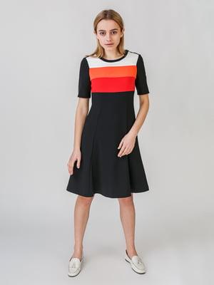 Платье черное в полоску | 5609618