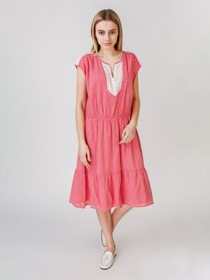 Сукня рожевого кольору з візерунком | 5609631