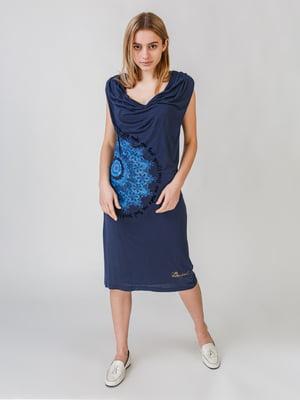 Сукня синя з принтом   5609639