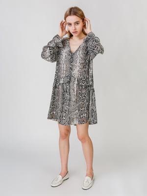 Платье с анималистическим принтом | 5609635