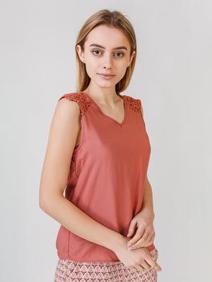 Блуза розовая с узором | 5609677