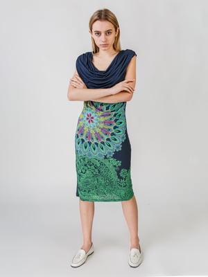 Сукня синя з принтом   5609640