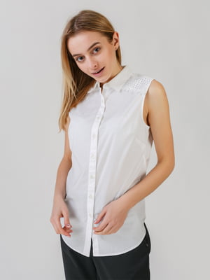 Блуза-рубашка белая | 5609678