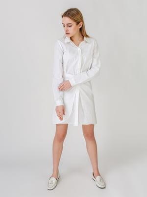 Платье-рубашка белое | 5609624