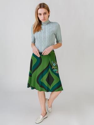 Спідниця зелена з принтом | 5609471