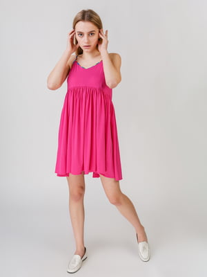 Сарафан рожевий з різнокольоровими вставками | 5609513