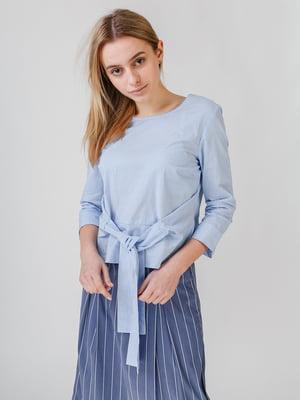 Блуза синяя в полоску | 5609667