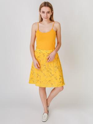 Спідниця жовта з принтом | 5609577