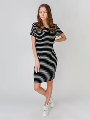 Платье черное в полоску | 5609682