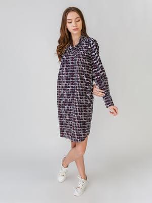 Сукня в смужку і з принтом   5609652