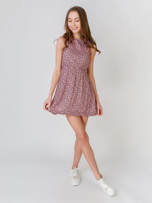 Сукня рожевого кольору з квітковим принтом | 5609507