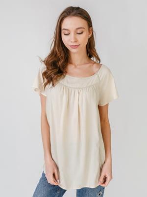 Блуза бежевого кольору   5609654
