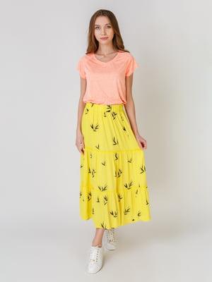 Спідниця жовта з принтом | 5609477