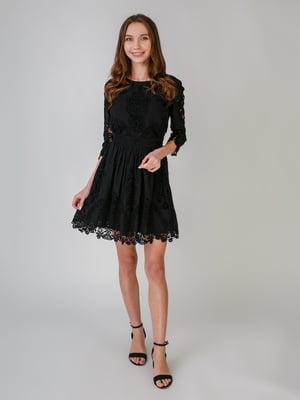 Платье черное с узором | 5609551