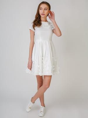 Платье белое с декором | 5609617