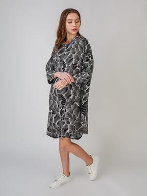 Платье черное с принтом | 5609399