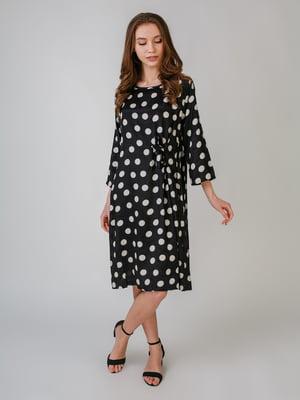 Платье черное в горошек | 5609413
