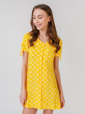Платье желтое в горошек | 5609510