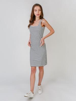 Платье белое в полоску | 5609549